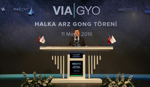 Borsa İstanbul'da Gong Via GYO için çaldı