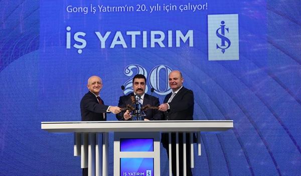 Borsa İstanbul'da Gong 'İş Yatırım' için çaldı