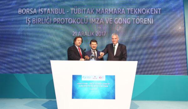 Borsa İstanbul'da Gong TÜBİTAK Marmara Teknokent İş Birliği için çaldı