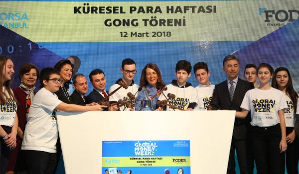 Borsa İstanbul'da gong 'Küresel Para Haftası' açılışı için çaldı