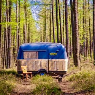 """Ormanın içinde harika bir """"karavan ofis"""""""