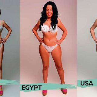 Ülkelere göre kadın vücutları