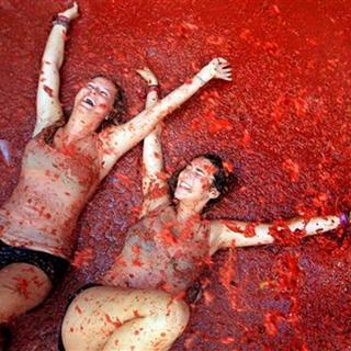 İspanya'da domates festivali