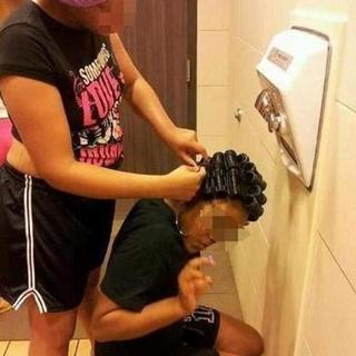 Tuvalette tuhaf görüntüler