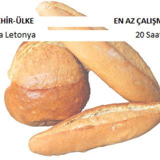 1 kilo ekmek alabilmek için kaç saat çalışıyoruz?