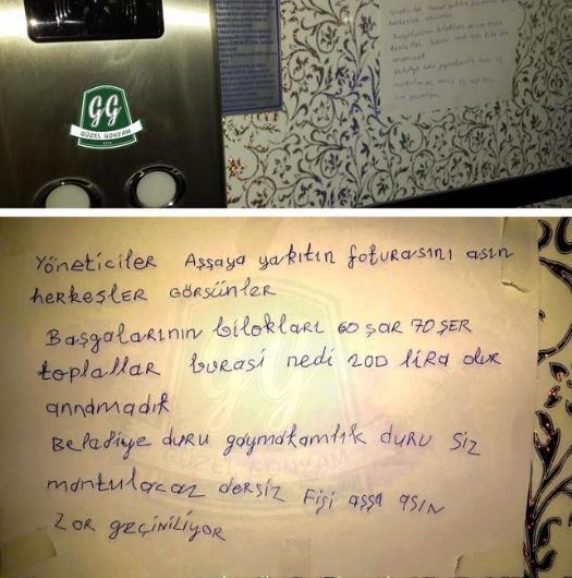 Apartmana asılan komik yazılar