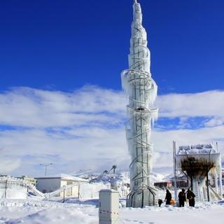 Erzurum'da Sibirya'yı aratmayan görüntü