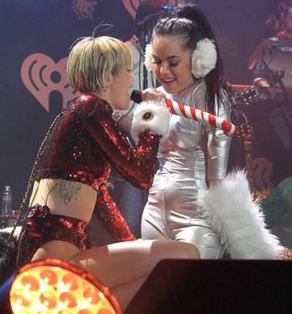 Miley Cyrus'a kedi saldırdı