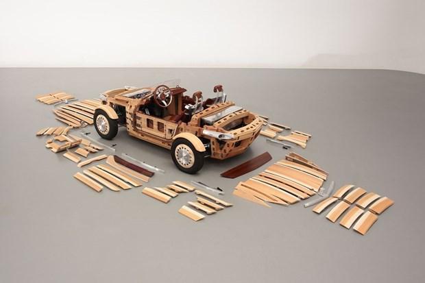Ahşaptan otomobil Toyota Setsuna