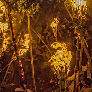 Keşmirli Müslümanların meşale festivali