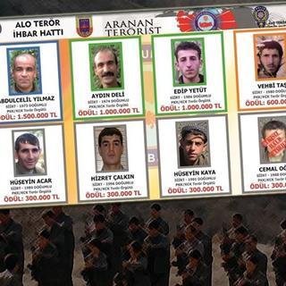 PKK'lıların fotoğrafları billboardlara asıldı