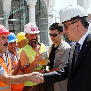 Cumhurbaşkanı Recep Tayyip Erdoğan, Osmanlı Camisi inşaatında