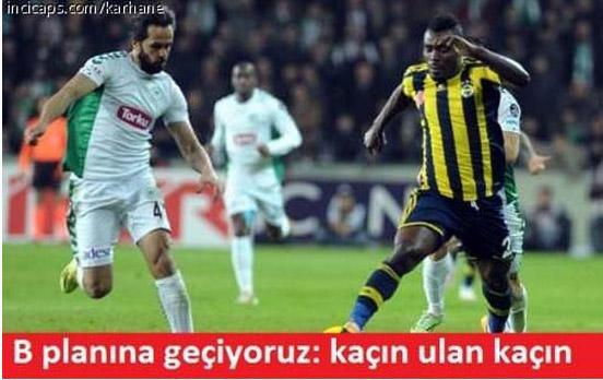 Atiker Konyaspor - Fenerbahçe maçının capsleri