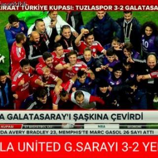 Galatasaray Tuzlaspor'a yenildi, capsler patladı!