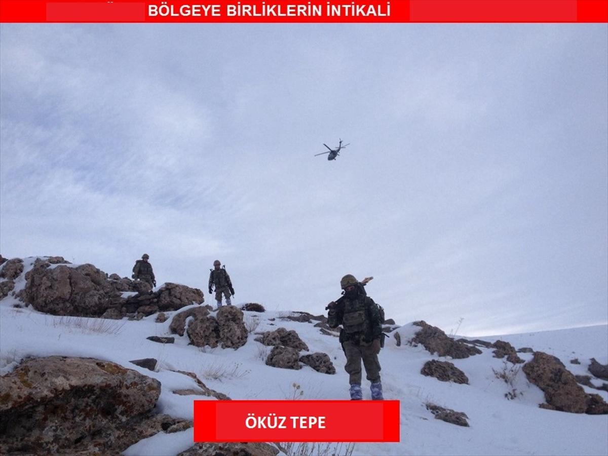 Asker Gabar'da PKK mağaralarına girdi