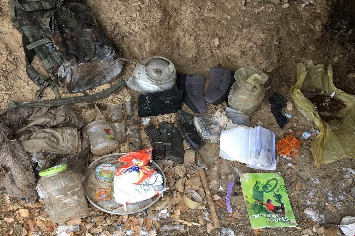 Tunceli'de PKK sığınaklarına darbe!
