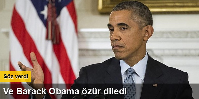 Barack Obama özür diledi