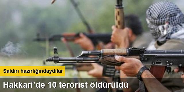 Aktütün'e saldırı girişimi! 10 terörist öldürüldü