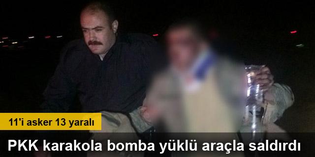 PKK karakola bomba yüklü araçla saldırdı