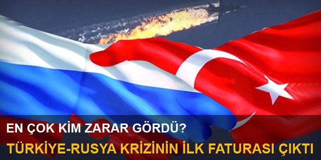 Türkiye-Rusya krizinin ilk faturası çıktı
