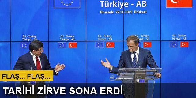 Türkiye-AB zirvesi sona erdi