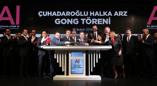 Borsa İstanbul Gongu Çuhadaroğlu için çaldı