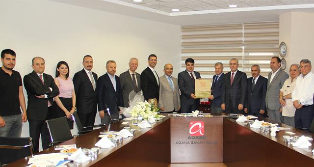 Talat Ulussever Adana İş Dünyası ile bir araya geldi