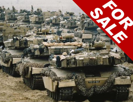 Ordudan satılık tank ve savaş gemisi