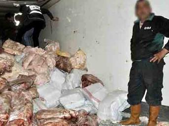 Afyonkarahisar'da 16 ton kaçak et yakalandı