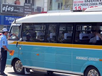 Klima açmayan minibüs şoförlerine ceza