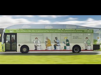 Bu otobüs insan atığıyla çalışıyor