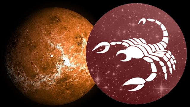 Venüs - Akrep burcunda