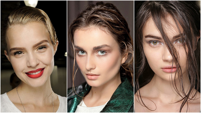 En güzel ıslak görünümlü saç modelleri