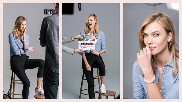 Karlie Kloss Swarovski'nin yeni marka elçisi olarak ışıldıyor