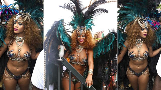 Rihanna'nın iddialı karnaval stili