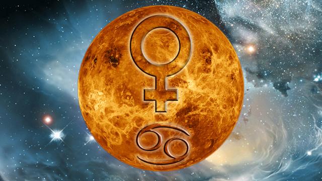 Venüs Yengeç burcunda