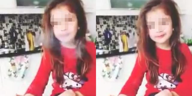 Sosyal medyada skandal görüntü! Kızına makyaj yapıp sigara içirdi