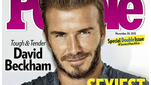 David Beckham, yaşayan en seksi erkek seçildi!
