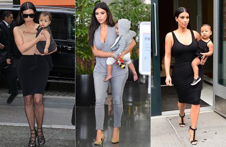 Kim Kardashian ve North West'in anne kız uyumu