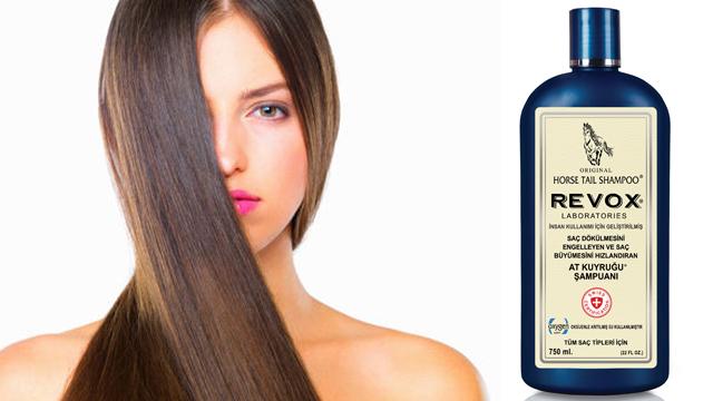 REVOX at kuyruğu şampuanı saç dökülmesine bire bir!
