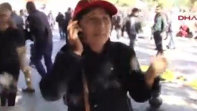 Ankara'daki büyük patlamada annenin feryadı kameraya takıldı!