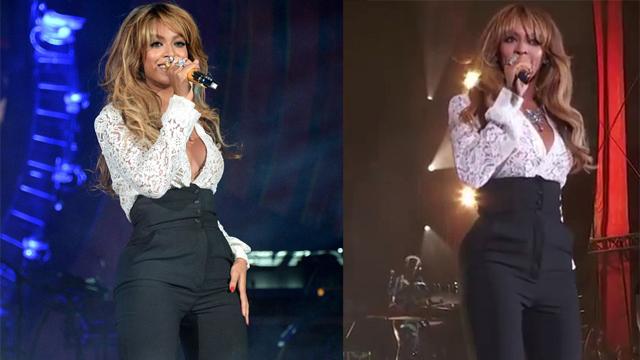 Beyonce sahnede zor anlar yaşadı