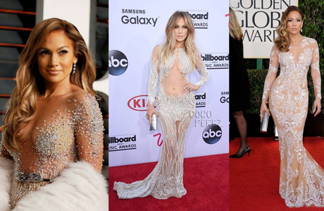 Jennifer Lopez'in en dikkat çekici transparan elbiseleri