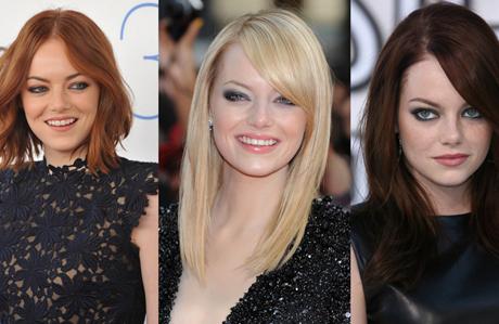 Emma Stone'un yıllar içindeki saç değişimi