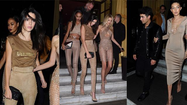 Gigi Hadid ve Kendall Jenner ten rengi içinde muhteşem görünüyorlar!
