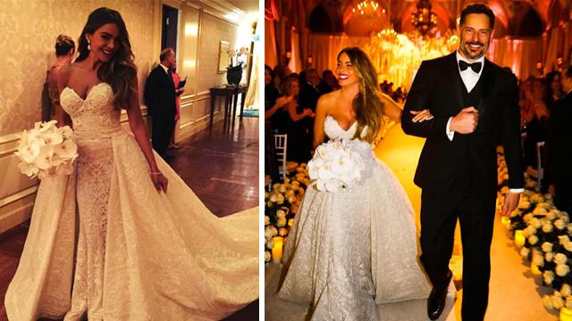 Sofia Vergara evlendi: Gelinliğini görmelisiniz!