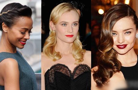 Yılbaşı gecesi için saç modelleri (2015)