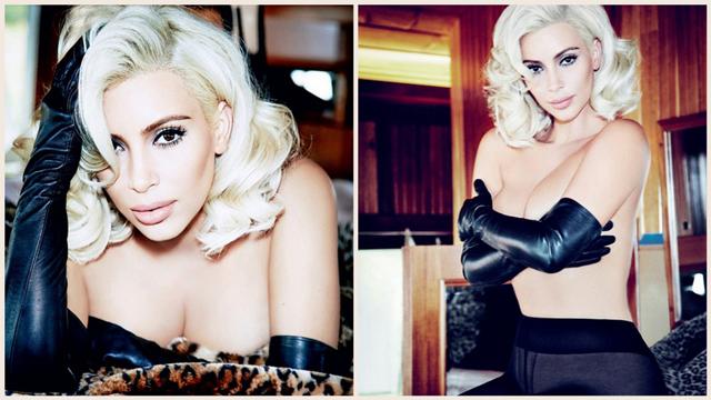 Kim Kardashian, Marilyn Monroe oldu!