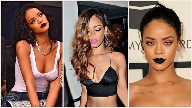 Rihanna'nın muhteşem rujları!