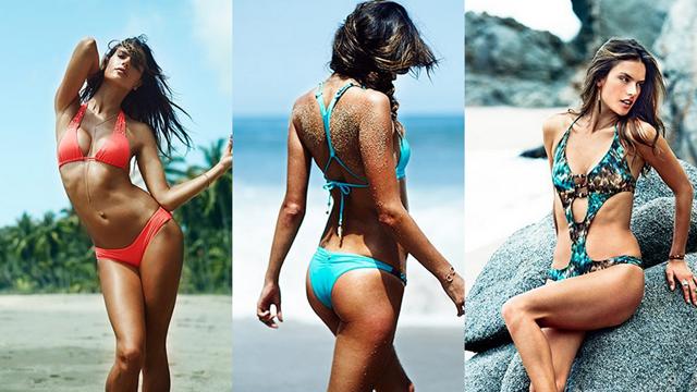 Alessandra Ambrosio kendi markası için poz verdi